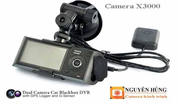 Camera hành trình X3000 GPS tích hợp 2 camera cao cấp