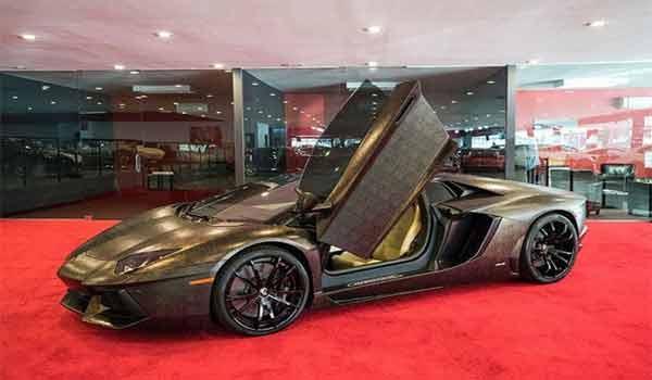 Siêu xe lamborghini Aventador LP700-4 độ ngụy trang da rắn cực chất