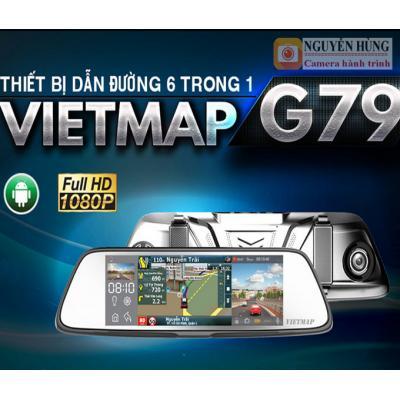 Vietmap G79 – Camera hành Trình Trước Sau Kiêm Dẫn Đường+Lùi