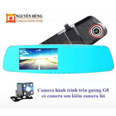 Camera hành trình trên gương G8 có camera sau kiêm lùi