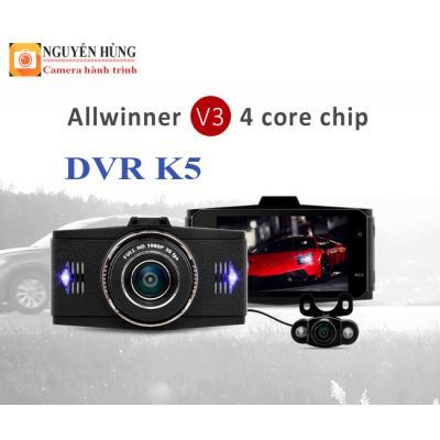 DVR K5 – GPS Camera hành trình trước sau kiêm camera lùi