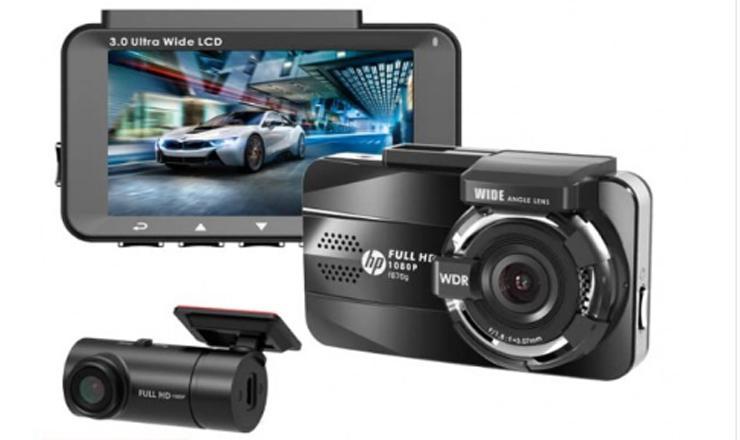 Camera hành trình cao cấp HP F870G-RC3, gps,ghi hình trước sau Full HD