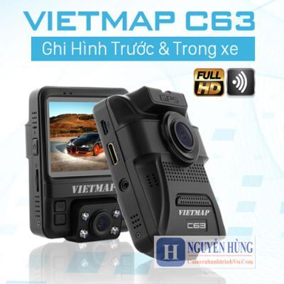 Vietmap C63 - Camera Hành Trình Trước & Trong Xe Có cảnh báo GT