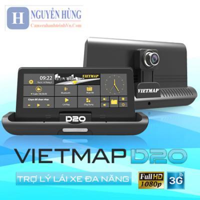 VietMap D20 Camera Hành Trình [Trước Sau Dẫn Đường 4G-Wifi]