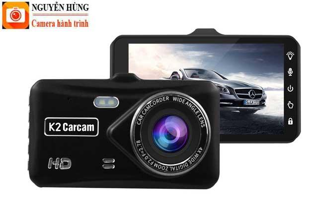 Camera Hành Trình K2 Carcam Touch, cảm ứng, có mắt sau kiêm camera lùi giá rẻ